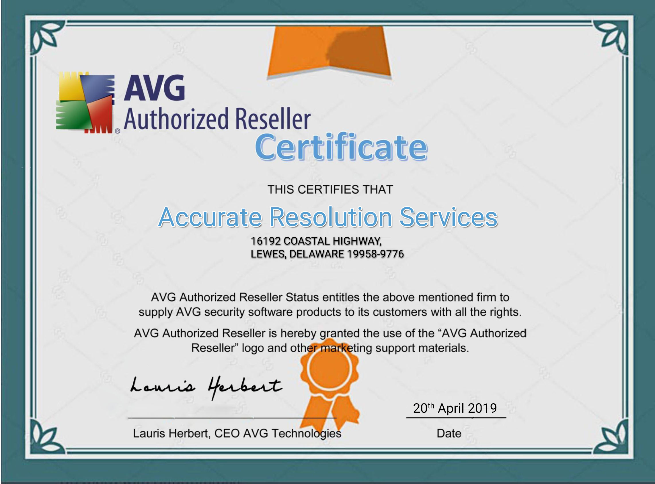 Accurate resolution services avg certificate xflitez Images